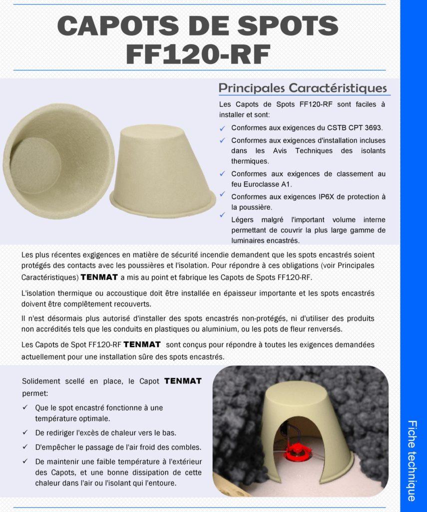 Fiche produit des protections de spot utilisées sur nos chantiers pour votre sécurité